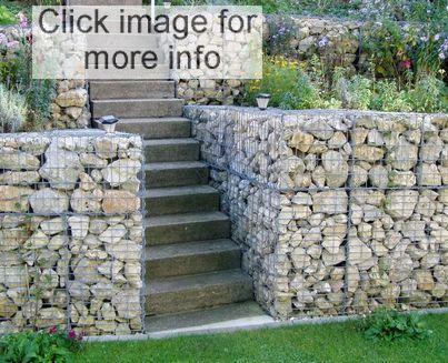 gabion basket stairs