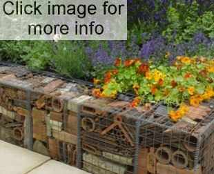 recycled brick gabion retaining