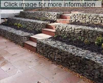 stepped gabion walls