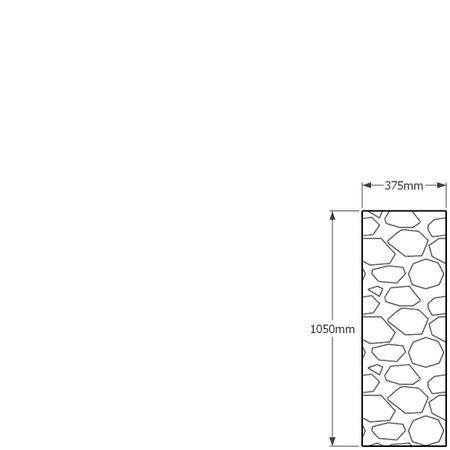 1050mm x 375mm gabion wall