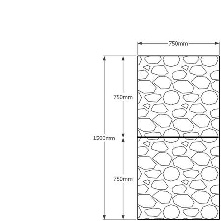 1500mm x 750mm gabion wall