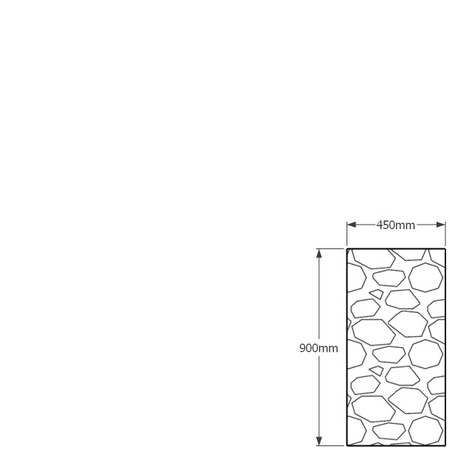 900mm x 450mm gabion wall