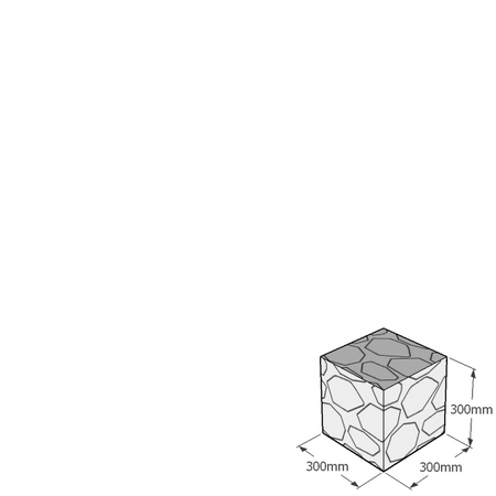 300mm gabion cube