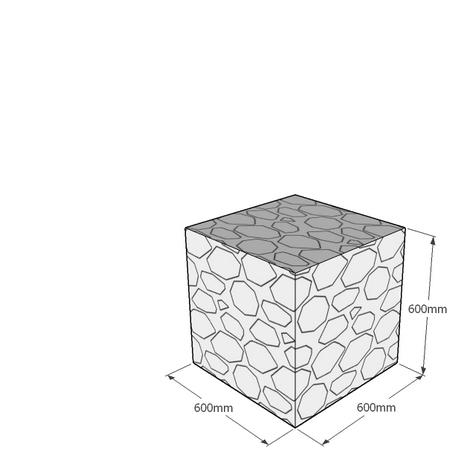600mm gabion cube