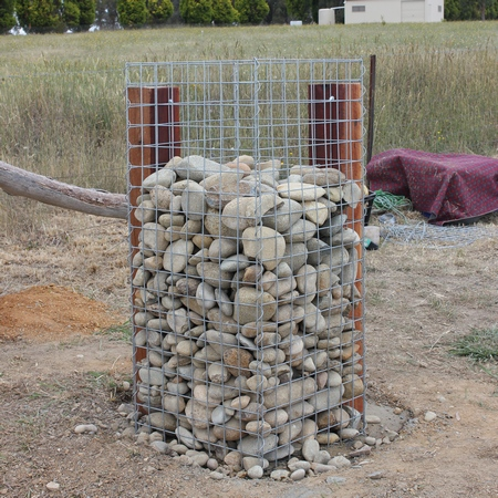 gabion supported pillar