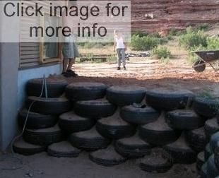 car tyre retaining wall