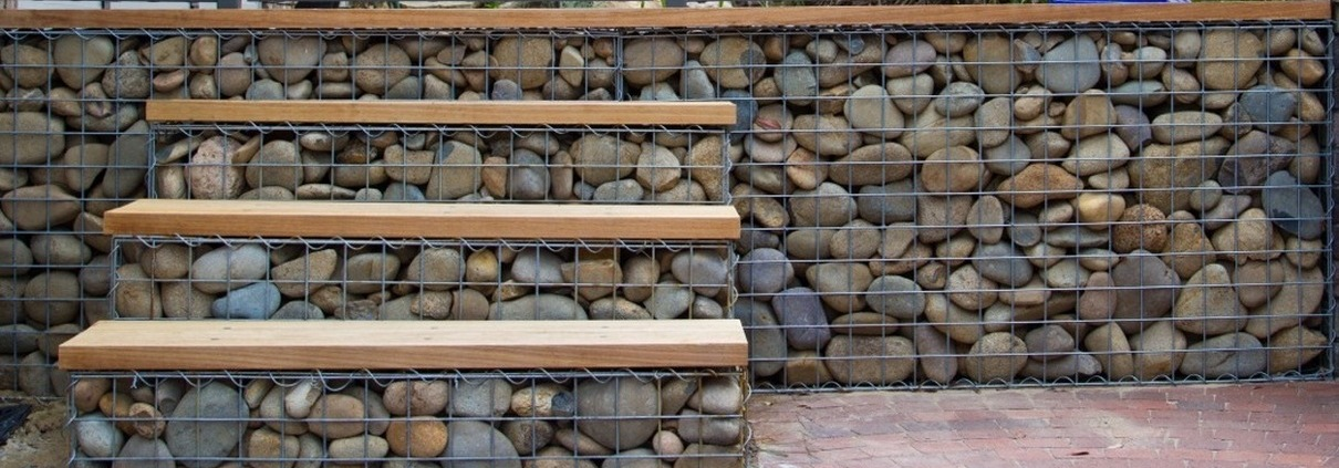 gabion step layout